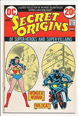Secret Origins #3 Wonder Woman Wildcat. DC 1973 from #1 1942