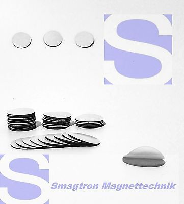 200 Stück 20mm Magnetic Plates (takkis), Self-Adhesive Foil points