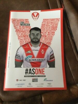 St.Helens v Leeds Rhinos rugby league programme 9/2/2017