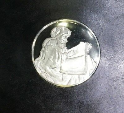 Sealed Genius Of Rembrandt Sterling Silver Proof Medal The Prophetess Hannah