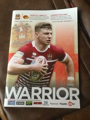 Wigan Warriers v Catalan Dragons rugby league programme 23/4/2017