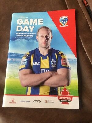 Warrington Wolves v Wigan Warriors rugby league programme 17/6/2017