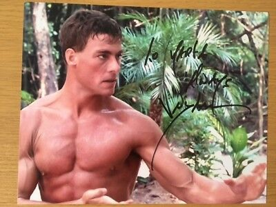 Jean Claude Van Damme signed photo (In Person) Bloodsport