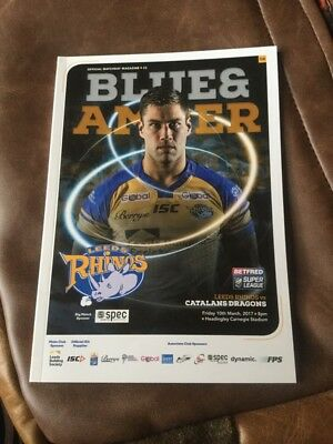 Leeds Rhinos v Catalan Dragons rugby league programme 10/3/2017