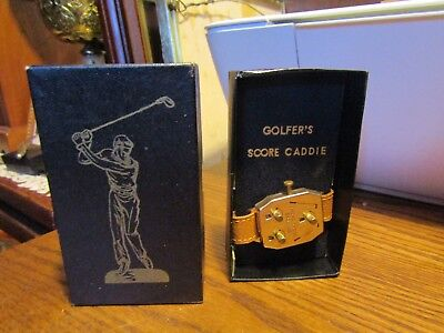 Vintage Golfers Score Caddie In Origional Box Never Used Great Condition 1940 S