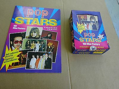 1980's Panini Pop Stars Box of 50 packs, 150 mini posters, & Album, Beatles