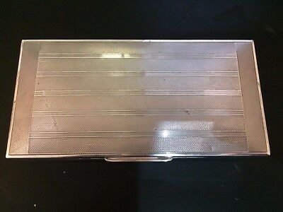 Superb Sterling Silver Large Cigarette Box 540 grams
