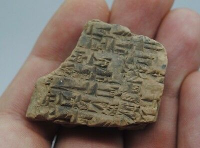 Extremely Rare Early Form of Writing on a Clay Tablet