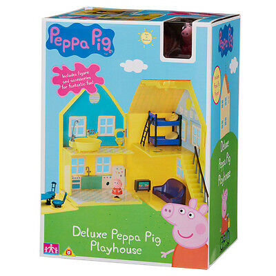 DAMAGED BOX Peppa Pig deluxe playhouse  Play house with Peppa Figure accessories