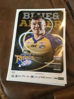 Leeds Rhinos v Wigan Warriors rugby league programme 4/8/2017