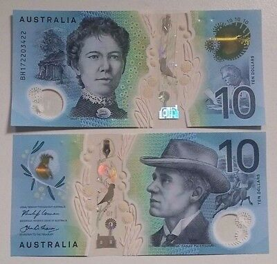 NEW 2017 $10 Dollars AUSTRALIA Lowe/Fraser 1 x UNC Banknote Next Generation UNC