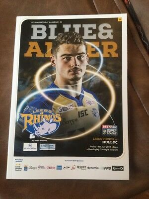 Leeds Rhinos v Hull FC rugby league programme 14/7/2017