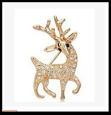 Hot Fashion jewelry full drilling deer brooch shiny diamond Pin Brooches
