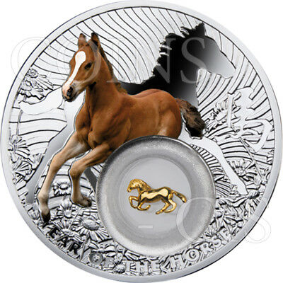 Niue 2014 2$ Chinese Calendar Lunar Horse with filigree insert Proof Silver Coin