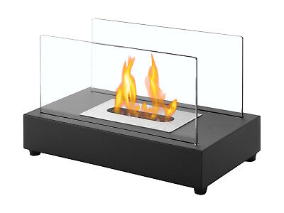 Tower Black - Ignis Ventless Tabletop Bio Ethanol Fireplace - Eco Friendly