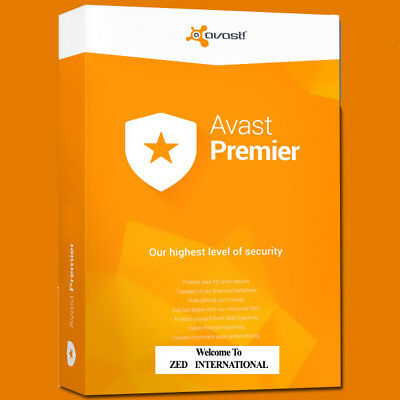 AVAST PREMIER 2018 antivirus, license FILE for 3 PCs, 3 year, Email Delivery