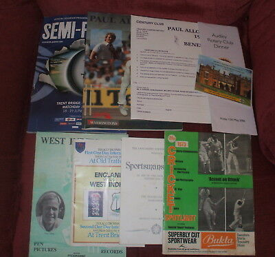 9 Cricket Items Two Have Autographs