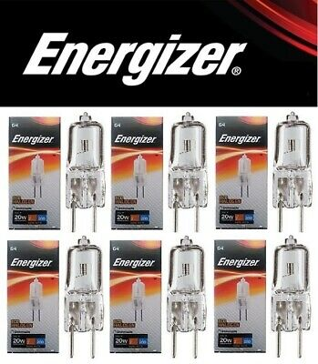 6 x G4 16w=20w ENERGIZER DIMMABLE ECO HALOGEN ENERGY SAVING bulbs Capsule 12V
