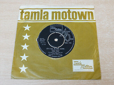 """EX- !! Four Tops/It's All In The Game/1970 Tamla Motown 7"""" Single"""