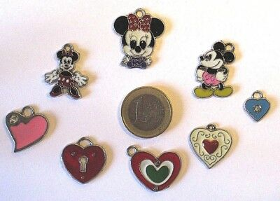 """8 tolle Schmuck Anhänger """"Herz + Micky Maus Mickey Mouse"""" - toller Mix"""