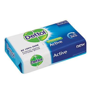 NEW Dettol Original Active Soap Anti-bacterial 1 Pack 120g Protect Kill germ 99%