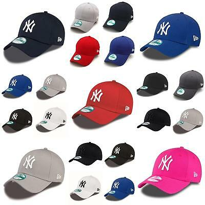 New Era Baseball Adjustable Cap 9FORTY Basic Hat Black Blue Pink Grey Red  White