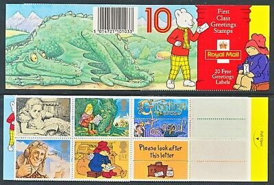 1994 SG KX6 10 X 1st CLASS GREETINGS STAMPS BOOKLET RUPERT
