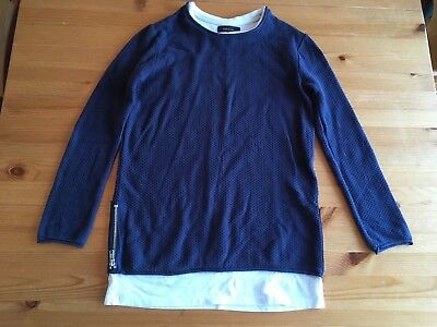 boys river island navy blue top age 9/10
