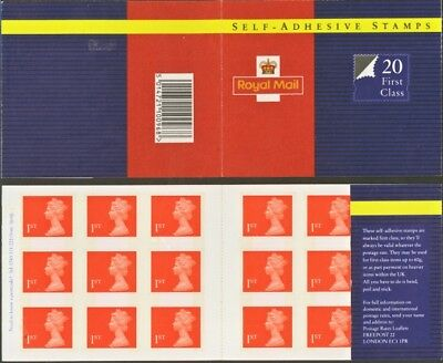 SG MG1 20 X 1st CLASS STAMPS BOOKLET