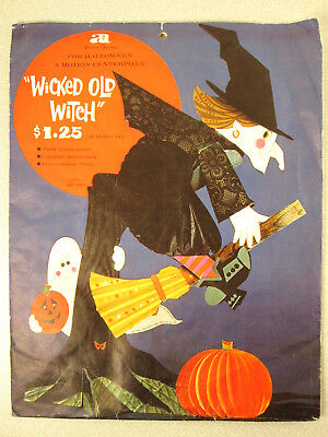 Vtg 60s/70s American Greetings WICKED OLD WITCH Halloween Table Centerpiece RaRe