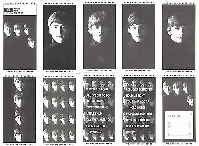 The Beatles Warus 10 Mini Card Set 'The With The Beatles Series' Limited Edition