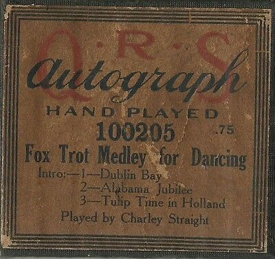 Fox Trot Medley, played by Charley Straight, QRS 100205, Piano Roll, Original