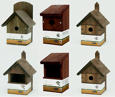 Classic Wild Bird Nest Box Chapelwood ~ FSC Certified Insulated Pine Wooden Wood
