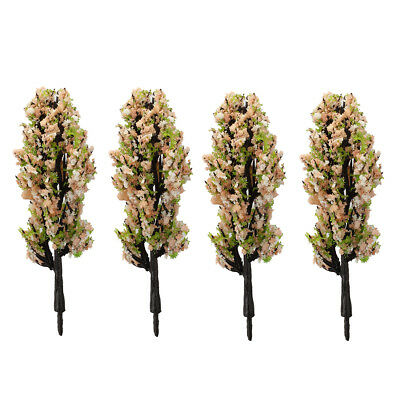 20pcs Model trees Train Landscape with Pink and Green flowers 1/200 scale P2C5