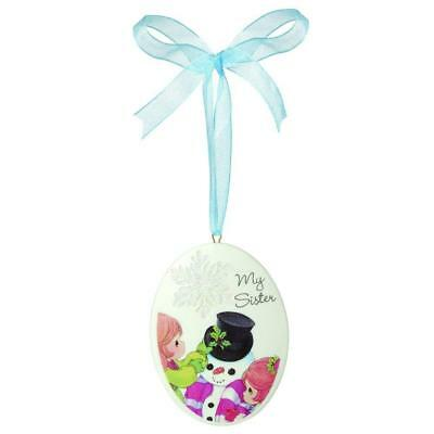 """Precious Moments 161052 Christmas Gifts, """"My Sister"""", Porcelain Ornament"""