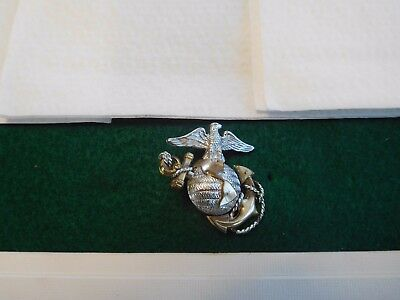 Vintage Sterling US Marine Corps Officer Pin