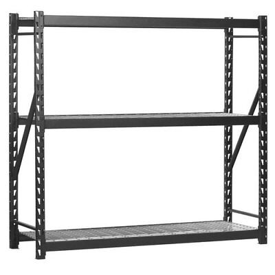 Edsal 3-Shelf Industrial Storage Rack - 72in.W x 24in.D x 72in.H Model# 7224...
