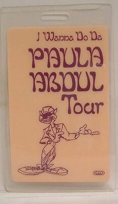 Paula Abdul - Original Concert Tour Laminate Backstage Pass