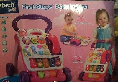 vtech first steps baby walker pink still in box never used