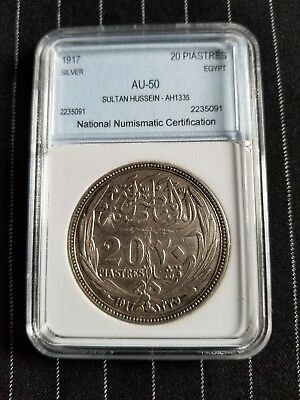 EGYPT SILVER COIN 1917 (20 PIASTRED)100 years old