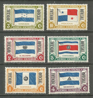 Guatemala 1939 mint stamps MNH (**) Official stamps , Flags