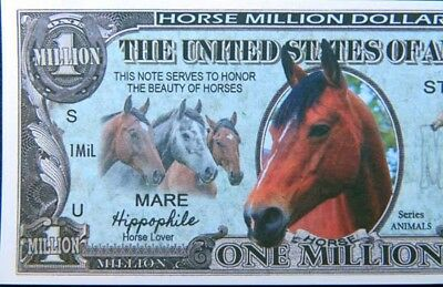Horses FREE SHIPPING!  Million-dollar novelty bill