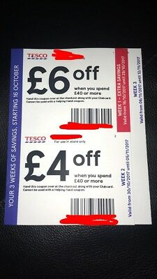 Tesco Money Off Vouchers,Total of £14 Saving, Use in-store only,Free P&P!!!