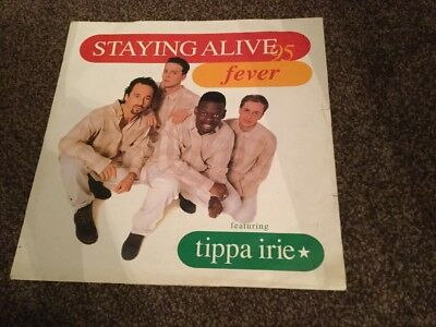 """Fever (6) Featuring Tippa Irie – Staying Alive 95 - Record Vinyl 12"""" Dance"""