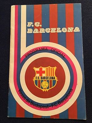 Programme Official Barcelona Spain Vasas Budapest Hungary Uefa Cup 1975 1976