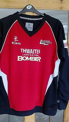 Mens Player worn NEWBY 8 Lancashire Lightning Cricket Sweat top size L 42""