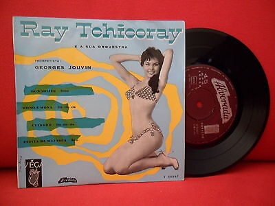 Ray Tchicoray & Georges Jouvin Ep 7/45 Nm Portugal Sexy Cheesecake Pin-Up Sleeve