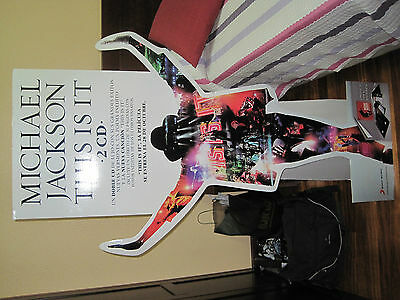"""Michael Jackson """"THIS IS IT PROMO"""" STANDEE DISPLAY Spain LAST AUCTION"""