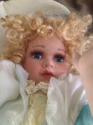 """Cathay Collection Limited Edition Doll """"FREDA"""" Fairy Angel Porcelain w/ Box"""