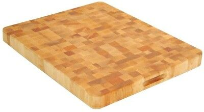 Hardwood Kitchen Food Cutting Board 2 in. Thick End Grain Durable Carry Slots